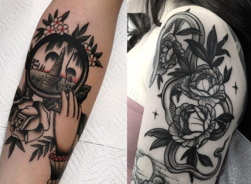 tatouages de jarret crosson et moorea hum