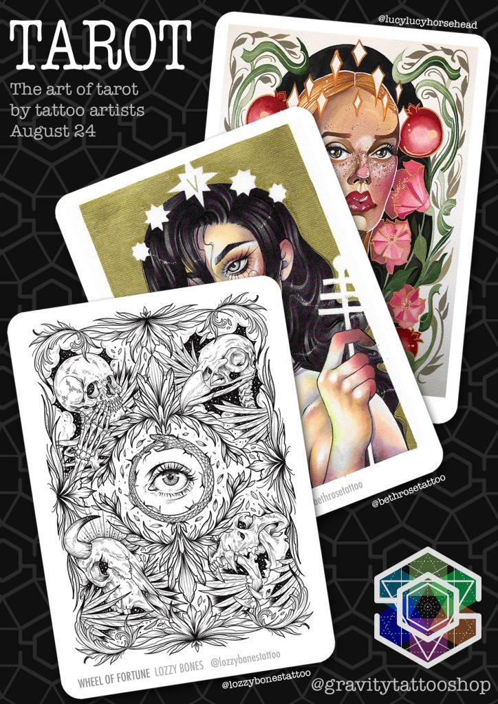 Affiche de projet de tatouage de tarot