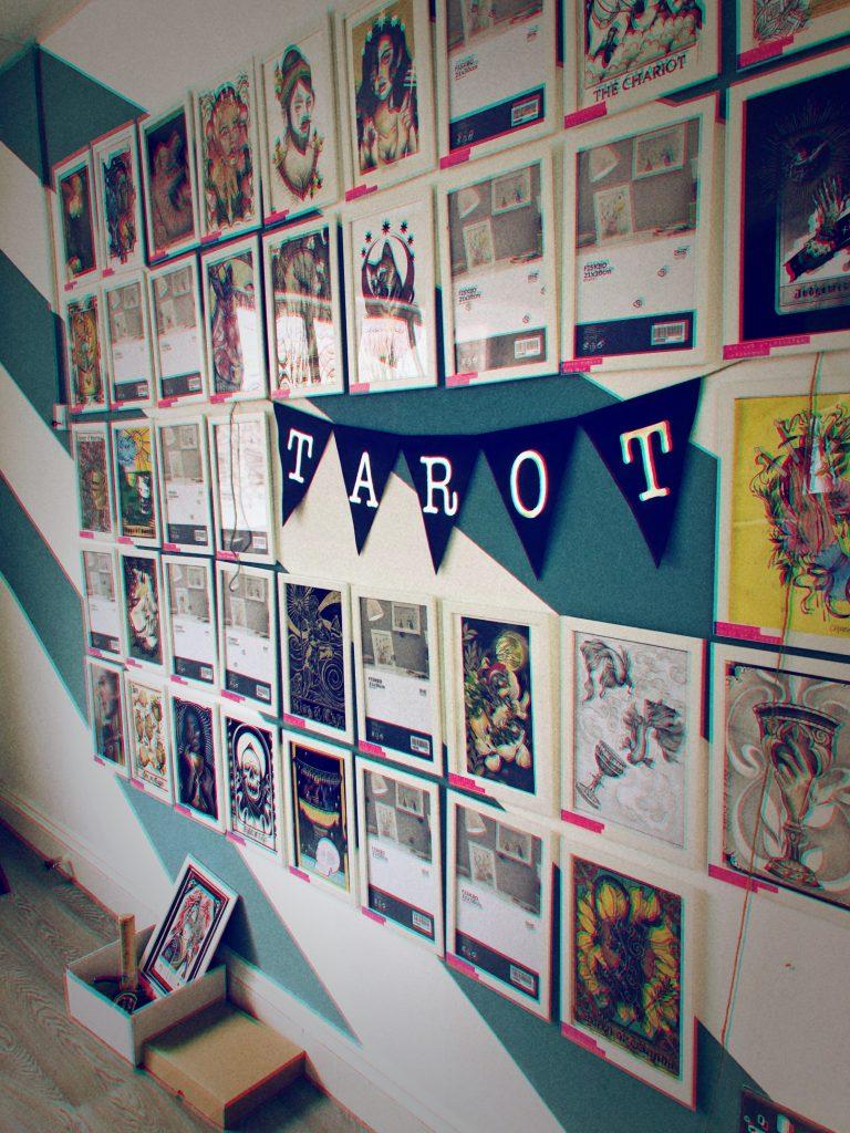 Coup d'oeil à l'exposition du projet Tarot