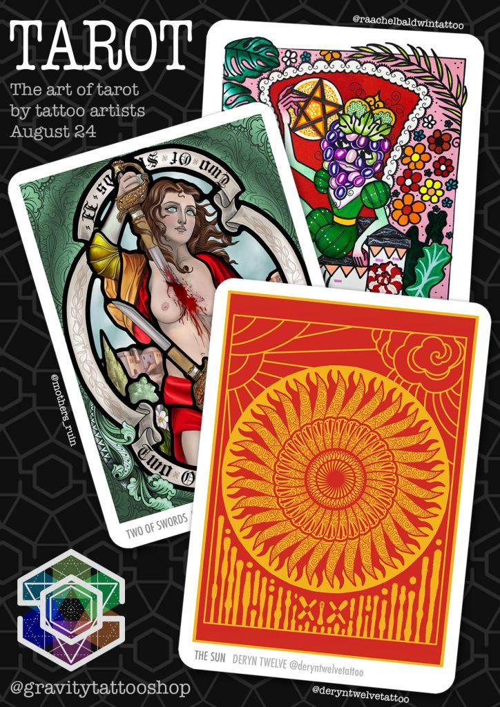 Affiche pour le projet Tarot Tattoo