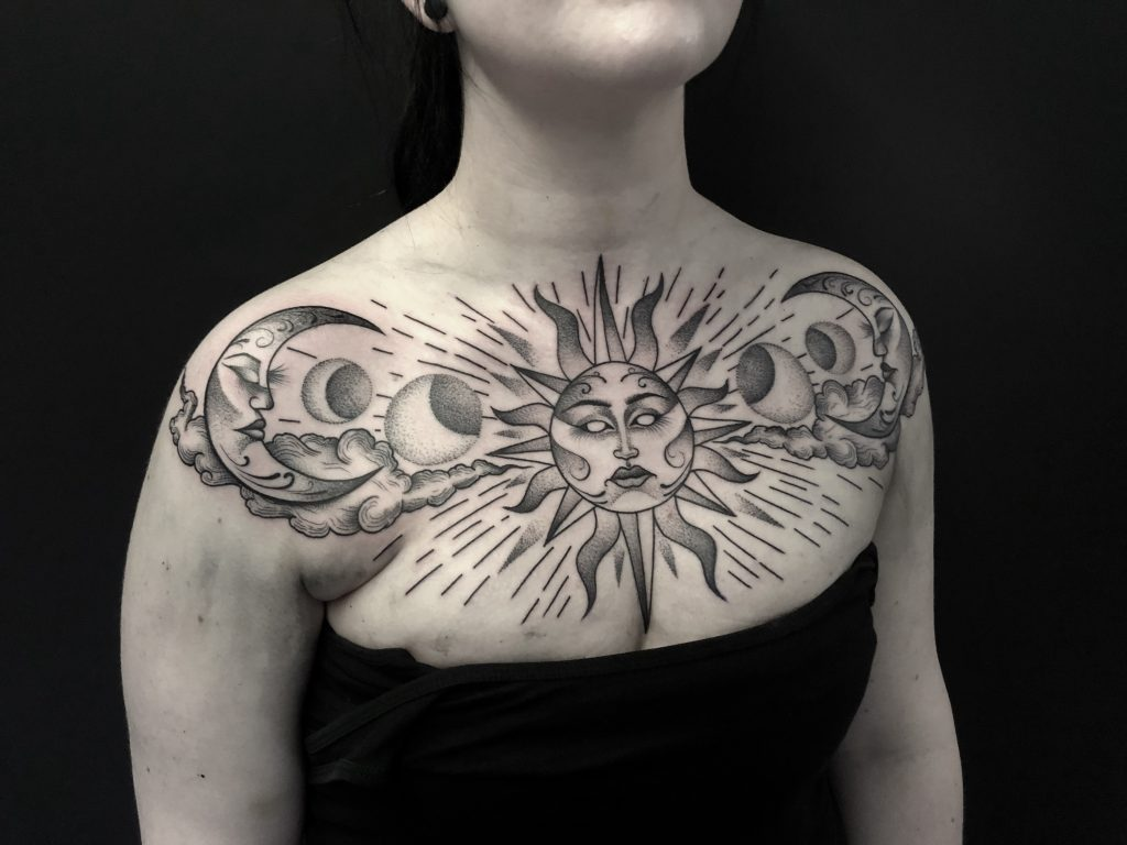 sun_moon_chest_tattoo